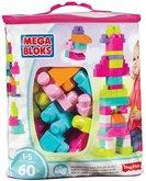 Mega Bloks Kostky v plastovém pytli růžová 60dílů