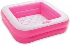 INTEX 57100 čtverec 85x85x23 cm růžový
