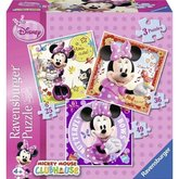 Puzzle Ravensburger Disney Minnie Mouse 3v1; 25/36/49 dílků