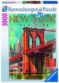 Puzzle Ravensburger Retro New York; 1000 dílků
