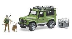 Bruder 2587 Land Rover Defender Station Wagon s figurkou lovce a psa