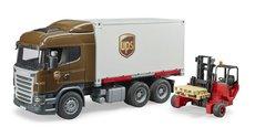 Bruder 3581 Scania R UPS s vysokozdvižným vozíkem