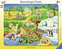 Ravensburger puzzle ZOO rámové 14 dílků