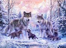 Ravensburger Puzzle Vlci vlčí rodina 1000 dílků