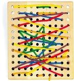Legler Dřevěná motorická hračka Deska na provlékání