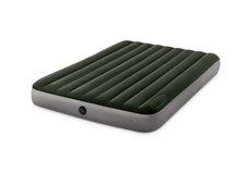 Intex 64763 Nafukovací postel Dura-Beam Downy Airbed 152x203cm s integrovanou nožní pumpou