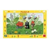 Dino puzzle 15 dílků deskové Krteček na výletě