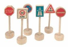 Woody Příslušenství k dráze Dopravní značky 6 dílů