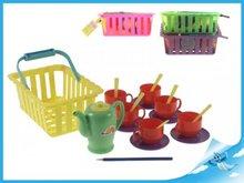 Čajový set v košíku  v síťce