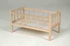 Teddies Dřevěná Postýlka pro panenky 49x28x28cm